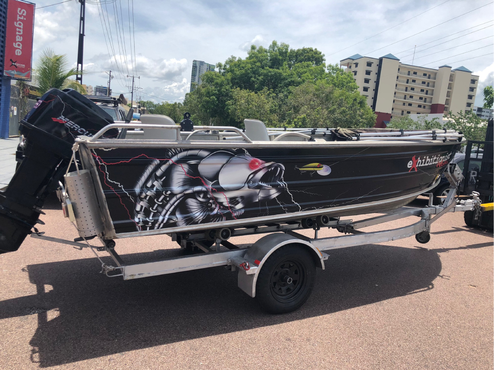 boat wrapping stickers